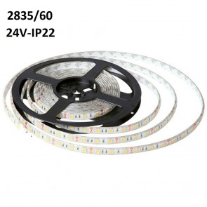 2835/60 24Volt IP22 Ledstrip (5MT)