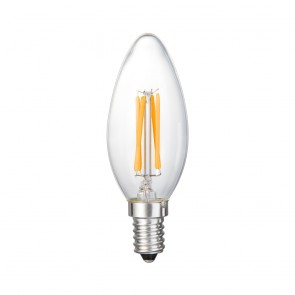LED FILAMENT BULLET DIM E14 4W