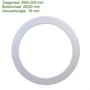 LED IN- EN OPBOUW DOWNLIGHT DIMBAAR + CCT Ø220MM