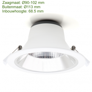 LED DOWNLIGHT REFLECTOR TRI COLOR 10W