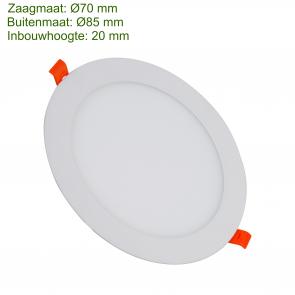 LED DOWNLIGHT SLIM Ø70 3W