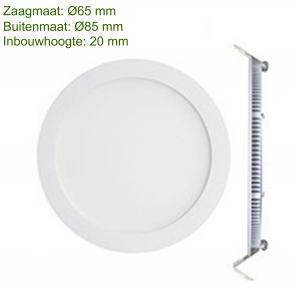 LED DOWNLIGHT SLIM Ø65 3W