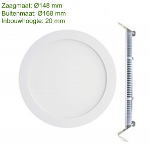 LED DOWNLIGHT SLIM Ø150 12W