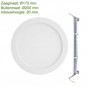 LED DOWNLIGHT SLIM Ø180 15W