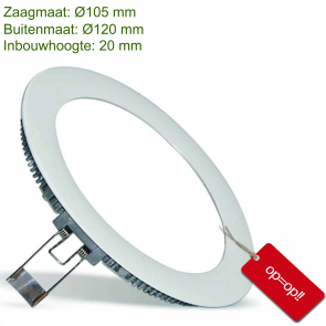 SILVER DOWNLIGHT SLIM Ø110MM 6W-3000K
