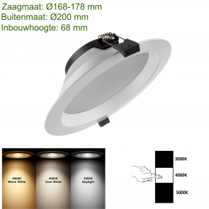 LED DOWNLIGHT 3 COLOR Ø170 20W