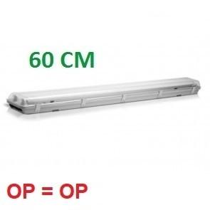 ECO IP65 ARMATUUR T.B.V. 2X LED TL-BUIS 60CM