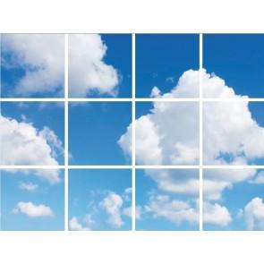 FOTOPRINT afbeelding wolk verdeeld over 12 panelen 595 x 595 mm