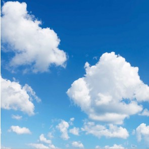 FOTOPRINT afbeelding wolk verdeeld over 1 panelen 595 x 595 mm