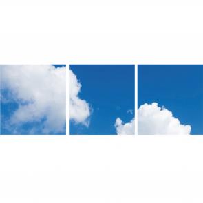 FOTOPRINT afbeelding wolk verdeeld over 3 panelen 595 x 595 mm
