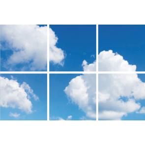 FOTOPRINT afbeelding wolk verdeeld over 6 panelen 595 x 595 mm