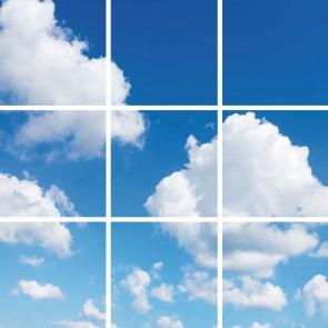 FOTOPRINT afbeelding wolk verdeeld over 9 panelen 595 x 595 mm