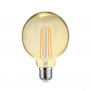 LED FILAMENT E27 GLOBE-L DIMBAAR AMBER GLAS 6.5W
