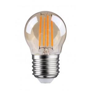 LED FILAMENT E27 KOGEL DIMBAAR AMBER GLAS 4W