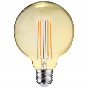 LED FILAMENT GLOBE DIM AMBER GLAS E27 6.5W