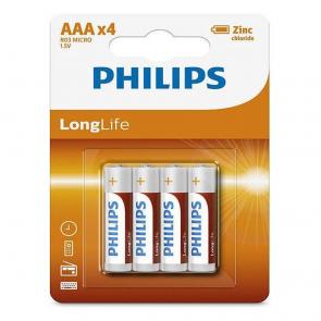 Philips LongLife Batterij AAAx4