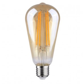 LED FILAMENT E27 EDISON DIMBAAR AMBER GLAS 6.5W